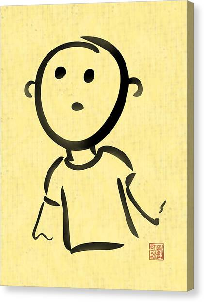Boy In Wonder Canvas Print