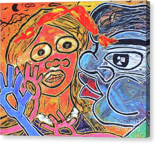 Boy Meets Girl Canvas Print