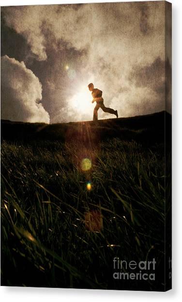 Boy Running Canvas Print