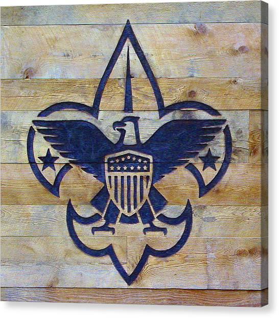 Eagle Scout Canvas Print - Boy Scout Logo by Pat Turner