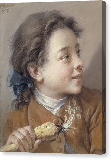 Rococo Art Canvas Print - Boy With A Carrot, 1738 by Francois Boucher