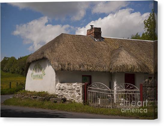 Boyne Valley Cottage Canvas Print by Philippe Boite