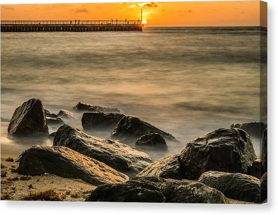 Canvas Print featuring the photograph Boynton Beach Sunrise by Michael Sussman