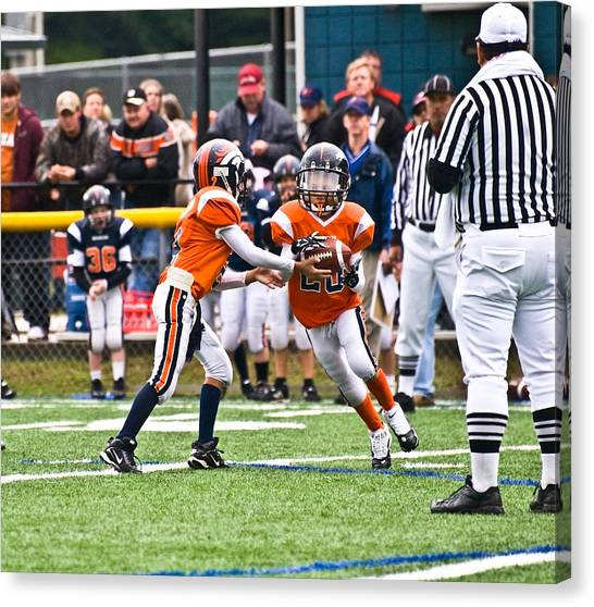 Boys Football Canvas Print