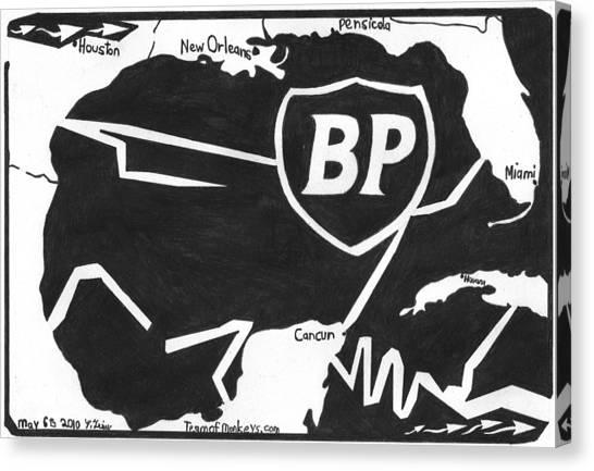 Bp Oil Slick Canvas Print by Yonatan Frimer Maze Artist