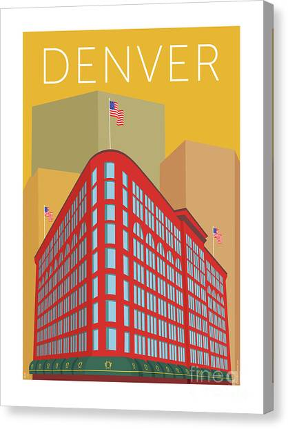 Denver Brown Palace/gold Canvas Print