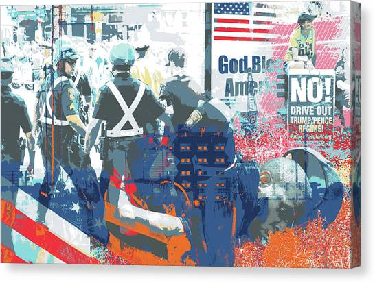 Boston Police Busted Canvas Print by Shay Culligan
