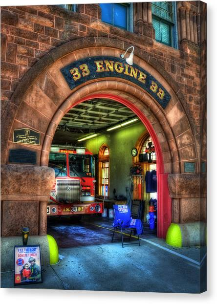 Boston Fire Dept - Engine 33 Ladder 15 Canvas Print