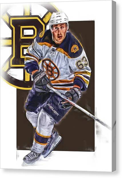 Boston Bruins Canvas Print - Brad Marchand Boston Bruins Oil Art by Joe Hamilton