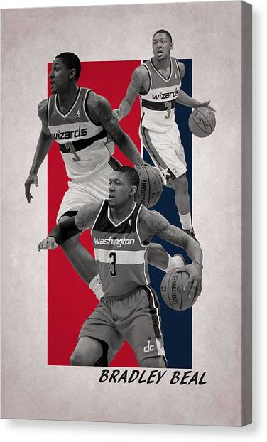 Washington Wizards Canvas Print - Bradley Beal Washington Wizards by Joe Hamilton