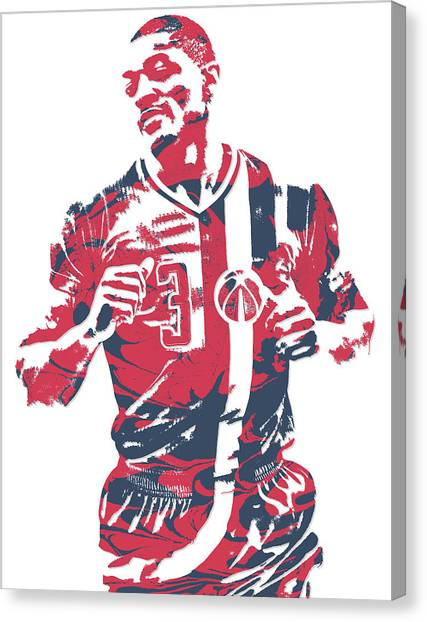 Washington Wizards Canvas Print - Bradley Beal Washington Wizards Pixel Art 5 by Joe Hamilton