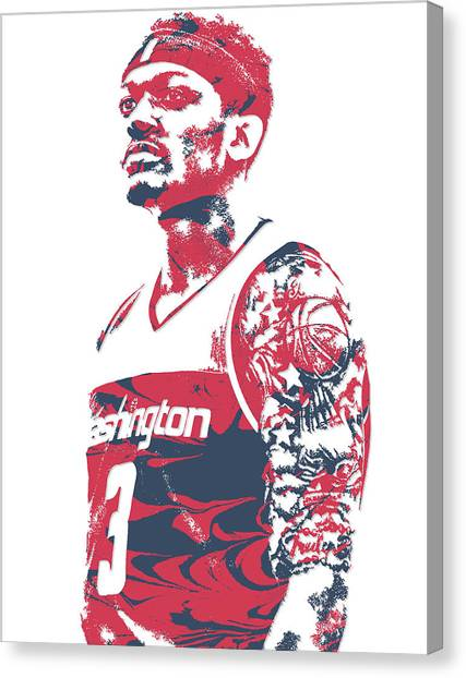 Washington Wizards Canvas Print - Bradley Beal Washington Wizards Pixel Art 6 by Joe Hamilton