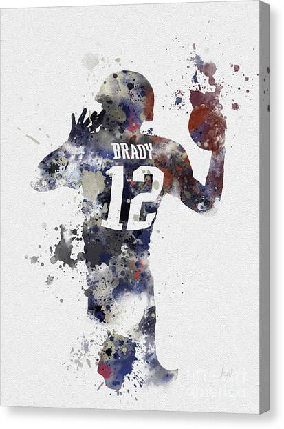 Quarterbacks Canvas Print - Brady by Rebecca Jenkins