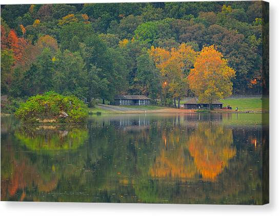 Ohio Valley Canvas Print - Brady's Run Park 2  by Emmanuel Panagiotakis