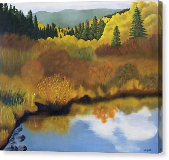 Bragg Creek Canvas Print by Joanne Giesbrecht