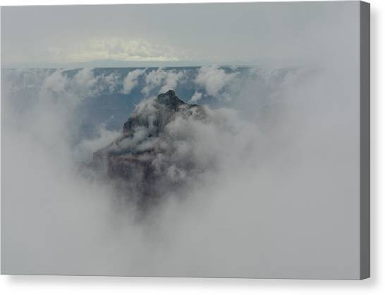 Brahma Temple In A Sea Of Clouds Canvas Print