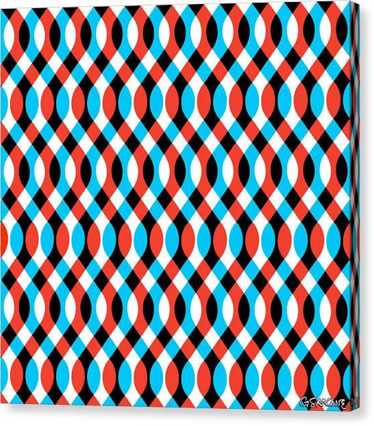 Brain Waves - Blue Canvas Print