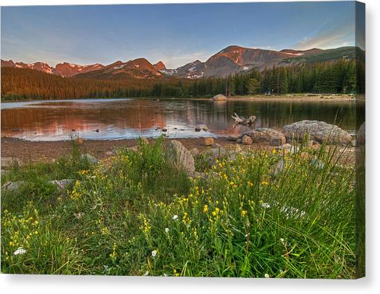 Canvas Print featuring the photograph Brainard Lake by Gary Lengyel