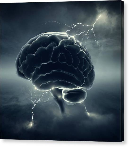 Brains Canvas Print - Brainstorm by Johan Swanepoel