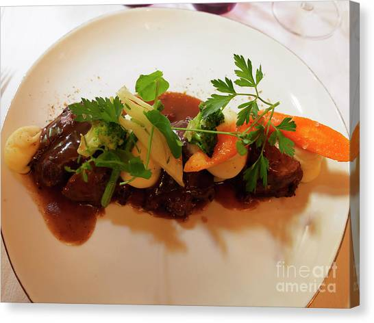 Fillet Canvas Print - Braised Beef With Vegetables by Louise Heusinkveld