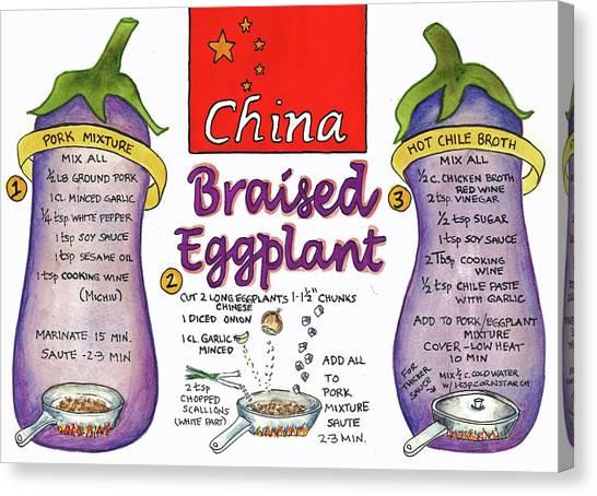 Braised Eggplant Canvas Print