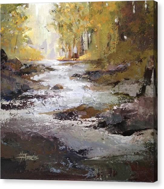 Bramble Brook Canvas Print