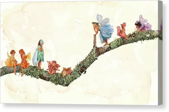 Fairy Canvas Print - Branch Fairies by Anne Geddes