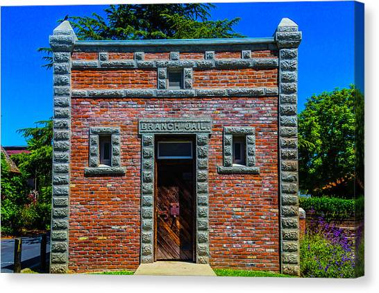 Detention Canvas Print - Branch Jail Jamestown by Garry Gay