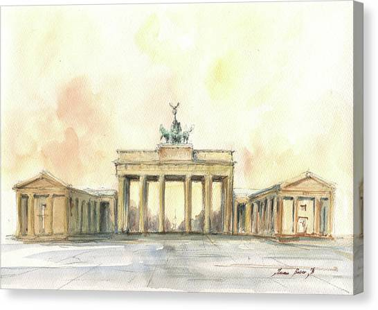 Berlin Canvas Print - Brandenburger Tor, Berlin by Juan Bosco