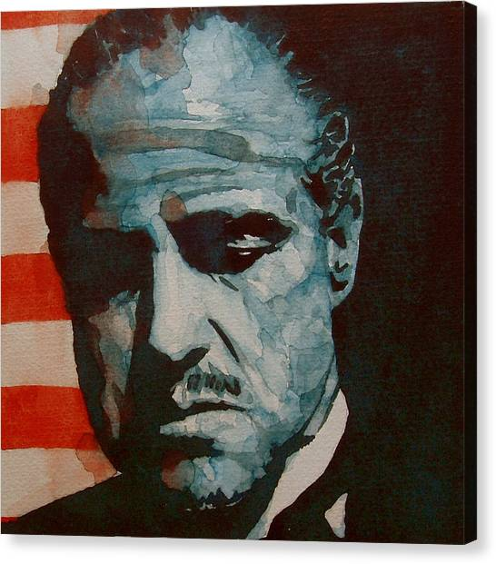Legend Canvas Print - The Godfather-brando by Paul Lovering