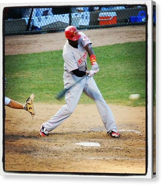 Baseball Teams Canvas Print - Brandon Phillips by Reds Pics