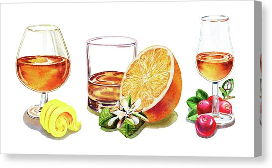 Cranberry Sauce Canvas Print - Brandy Whiskey Port by Irina Sztukowski