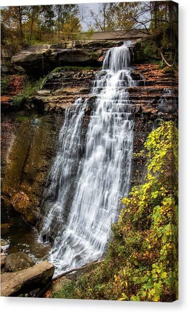 Ohio Canvas Print - Brandywine Falls by Tom Mc Nemar