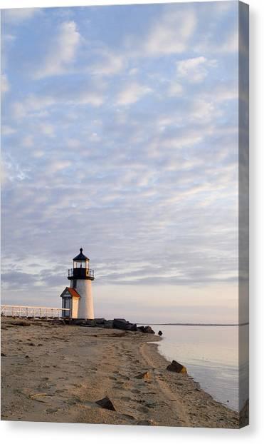 Brant Point Light - Nantucket Canvas Print by Henry Krauzyk