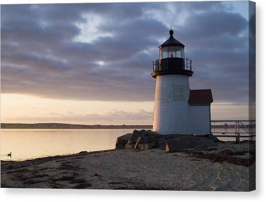 Brant Point Light Number 1 Nantucket Canvas Print by Henry Krauzyk