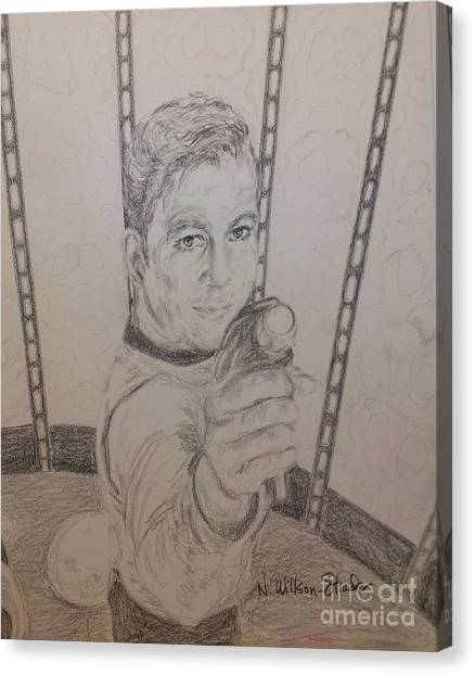 James T. Kirk Canvas Print - Brave Kirk by N Willson-Strader