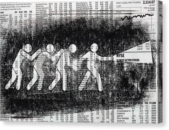 Search Canvas Print - Brave Stock Broker by Igor Kislev