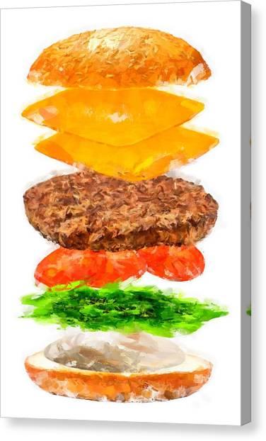 Brazilian Salad Cheeseburger Canvas Print