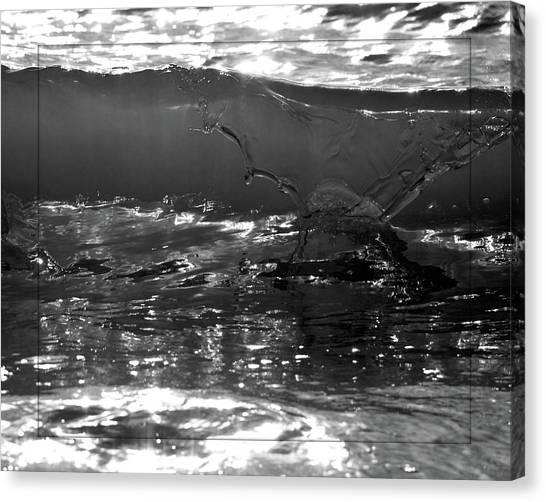 Breach Inlet Morning Waves 2 Canvas Print by Melissa Wyatt