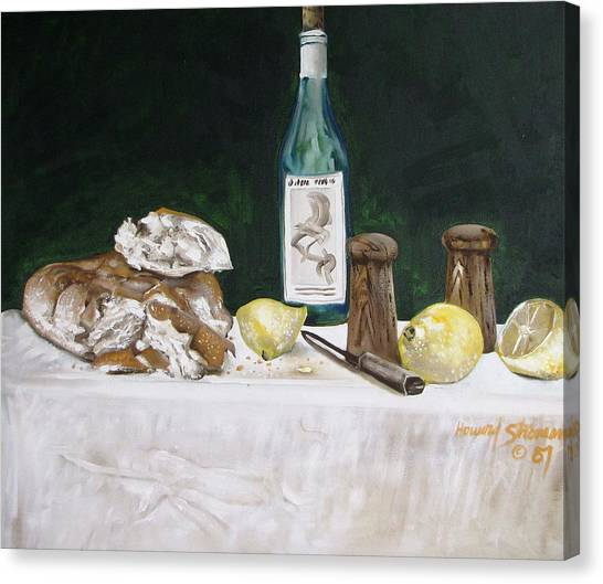 Bread And Wine Canvas Print by Howard Stroman