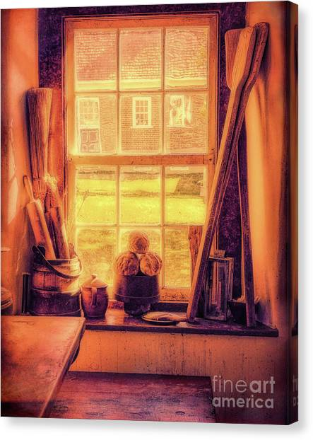 Bread In The Window Canvas Print