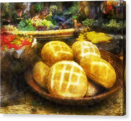 Bread Table Canvas Print