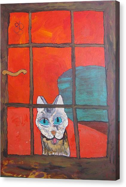 Break And Enter Cat Canvas Print