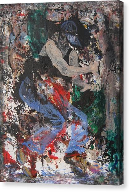 Break Dancin' In The Rain Canvas Print by Penfield Hondros
