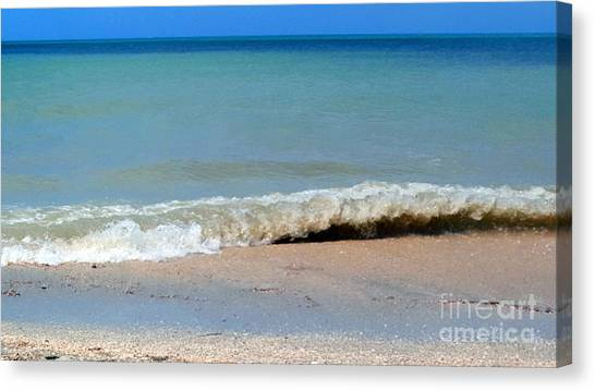 Break In The Sand Canvas Print
