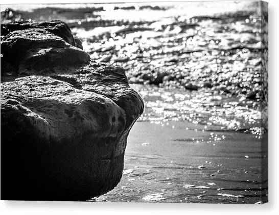Break In The Surf Canvas Print