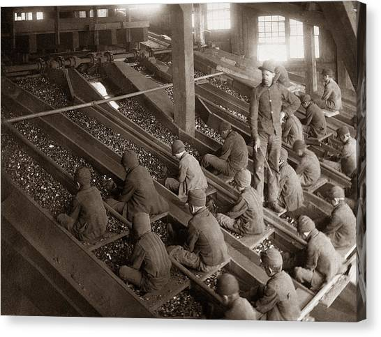 Craft Beer Canvas Print - Breaker Boys Lehigh Valley Coal Co Maltby Pa Near Swoyersville Pa Early 1900s by Arthur Miller