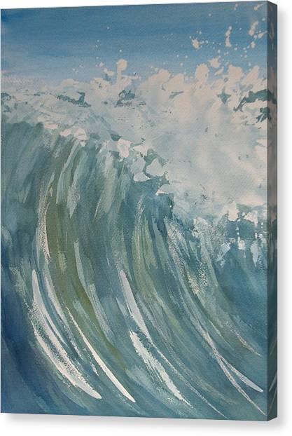 Breaker Canvas Print by Pete Maier