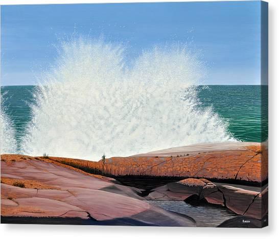 Breakers On Georgian Bay Canvas Print