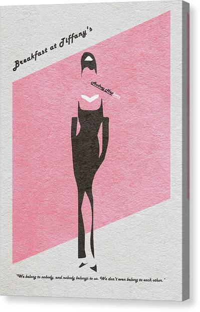 Actors Canvas Print - Breakfast At Tiffany's by Inspirowl Design